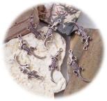 Bild302 Metallanhaenger Echse silber