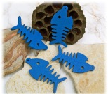 Holzanhänger Fisch blau
