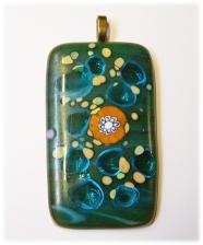 Bild500 Glasanhaenger Glasschmuck grün