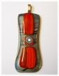 Bild504 Glasanhaenger rot schwarz Glasschmuck