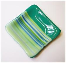 Bild509 Glasteller Kerzenteller Dipschale handmade türkis